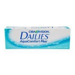 Opakowanie soczewek kontaktowych Dailies Aqua Comfort Plus.