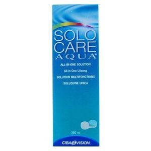 Solo Care Aqua płyn do pielęgnacji soczewek kontaktowych firmy Ciba Vision