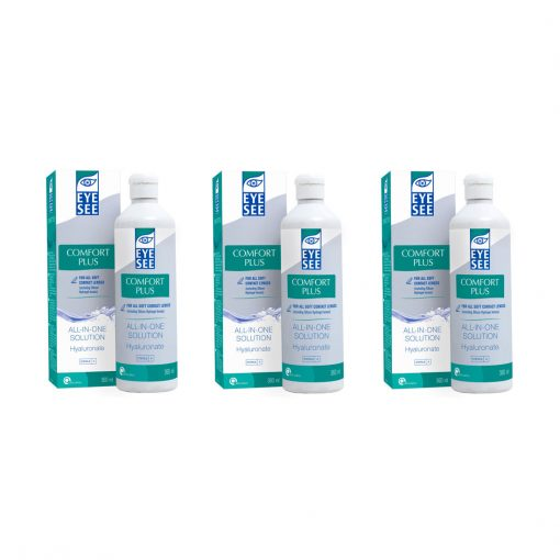Zestaw Eye See All-In-One Solution Plus Hyaluronate 3 x 360 ml