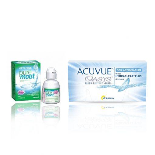 Zestaw Acuvue Oasys 2x6szt. + Puremoist 60 ml