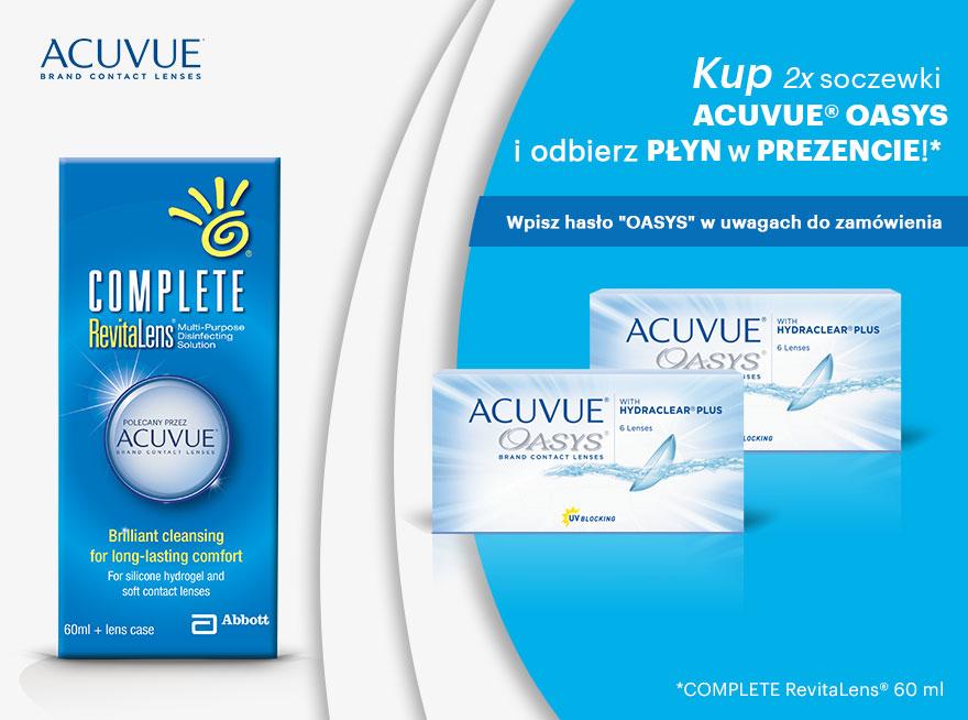 Płyn Gratis do 2 opakowań soczewek kontaktowych ACUVUE®