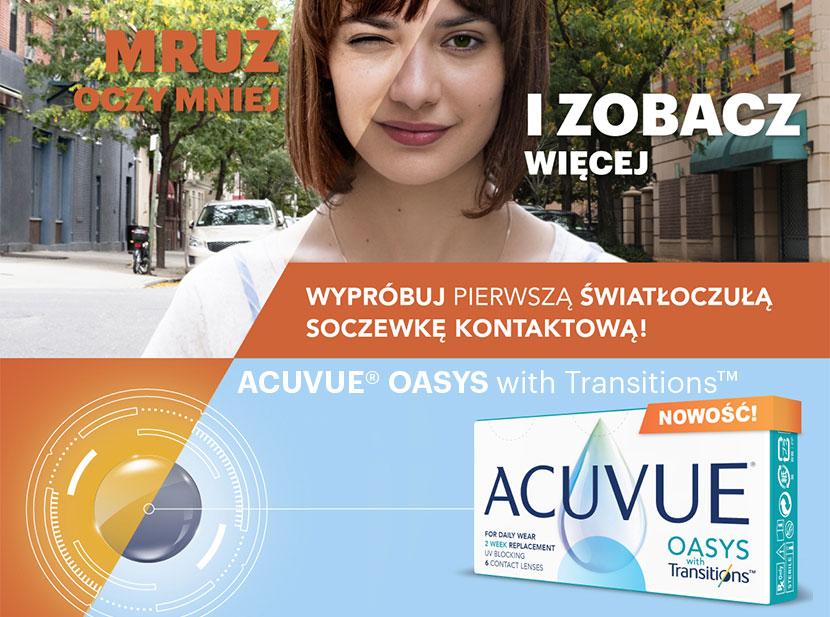 ACUVUE® OASYS with Transitions™ – pierwsze światłoczułe soczewki kontaktowe!